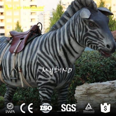 Animated Zebra Ride Rider Used Amusement Rides