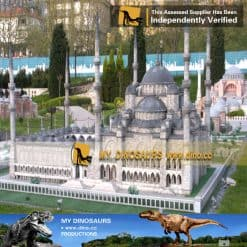 turkish mosque miniature building model