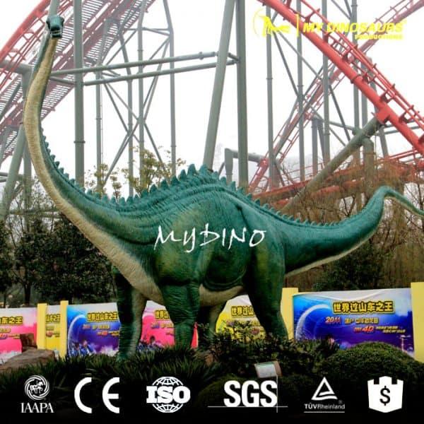 amusement life size fiberglass dinosaur