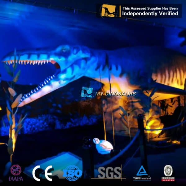 animatronic mosasaur