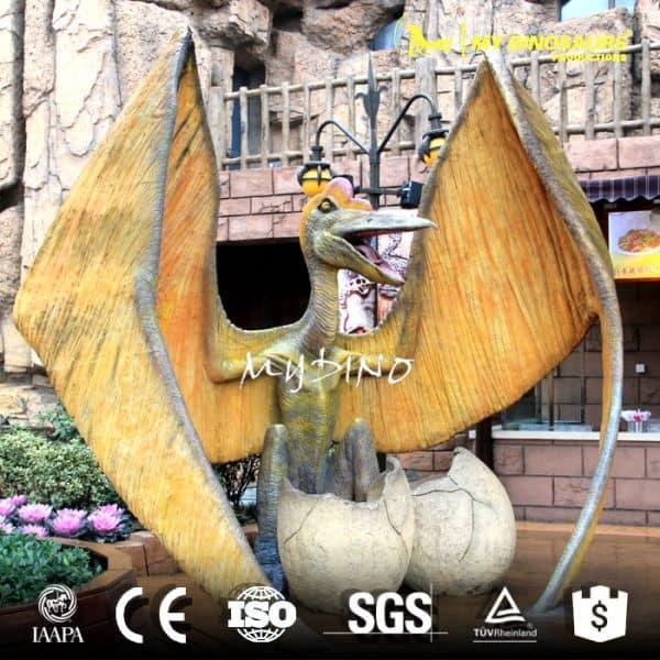 artificial mechanical dinosaur egg statue