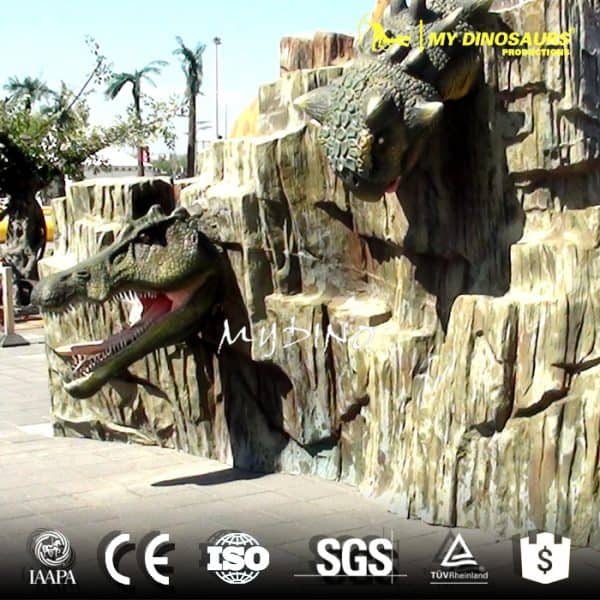 dinosaur head wall