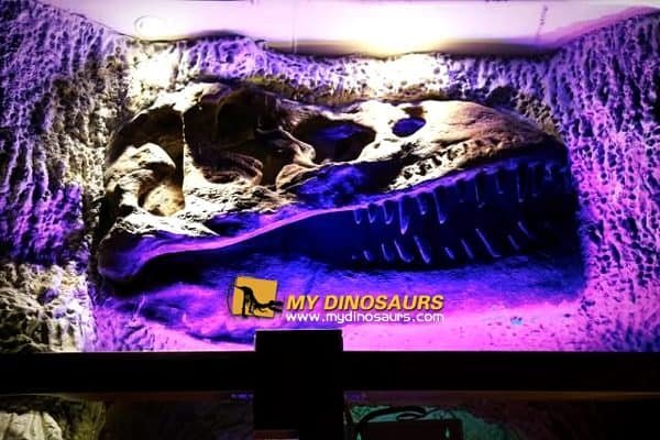 Restaurant wall decor dinosaur fossil
