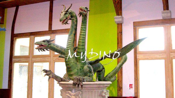 animatronic three headed dragon
