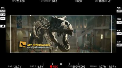 Dinosaur skeleton movie props 1