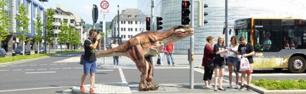 dinosaur costume banner