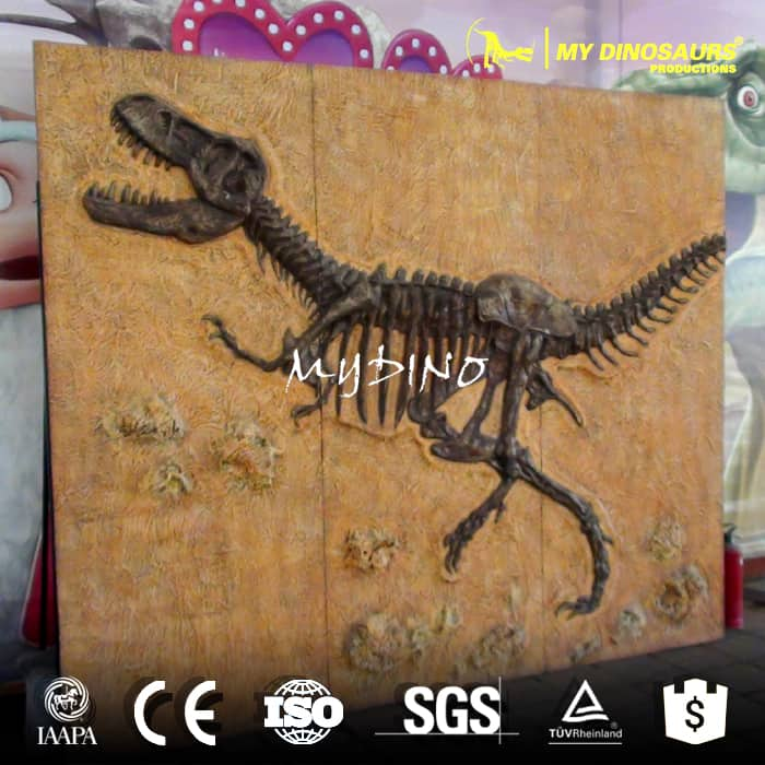 DS-126 Dinosaur Skeleton Replica T-Rex Fossil Wall