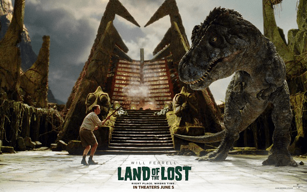 5.Land of the Lost Land of the Lost is a 2009 American adventure comedy film. A space-time vortex sucks scientist Rick and his assistant Holly and a survivalist Will into a world populated by dinosaurs and painfully slow creatures. With few resources at their disposal, Rick, Holly and Will must rely on their only ally, a primate named Chaka to try to survive long enough to figure out a way back home. Pompous paleontologist Rick has a low-level job, three years after a disastrous interview ruined his career. Doctoral candidate Holly shows him a fossil with an imprint of a cigarette lighter that he recognizes as his own along with a crystal made into a necklace. She convinces him to finish his experiment and come help her on a seemingly routine expedition to the cave where Holly found the fossil. That is when the adventure starts. Even though the film received generally negative reviews from critics, but somehow I thought it is quite funny. Try it and you may get a surprise.