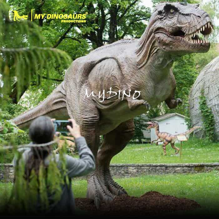 Dinosaur World Animatronic Attractions Life Size T-REX Model