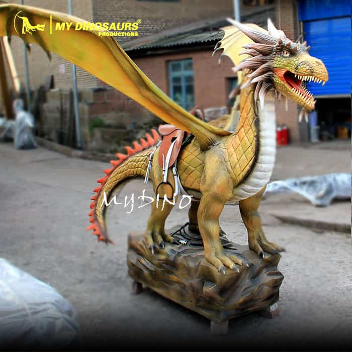 Magic Dragon Coin Operated Animatronic Dragon Ride for Sale