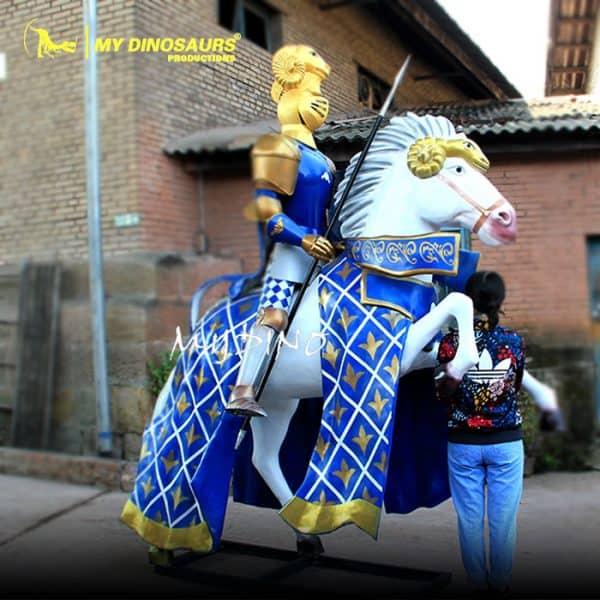 Fiberglass knight statue
