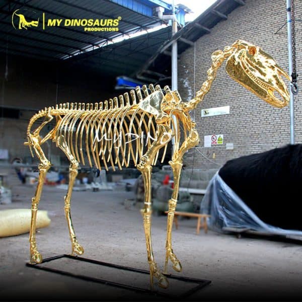 Golden Horse Skeleton 1