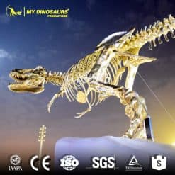 dinosaur skeleton sculpture