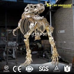 golden dinosaur skeleton