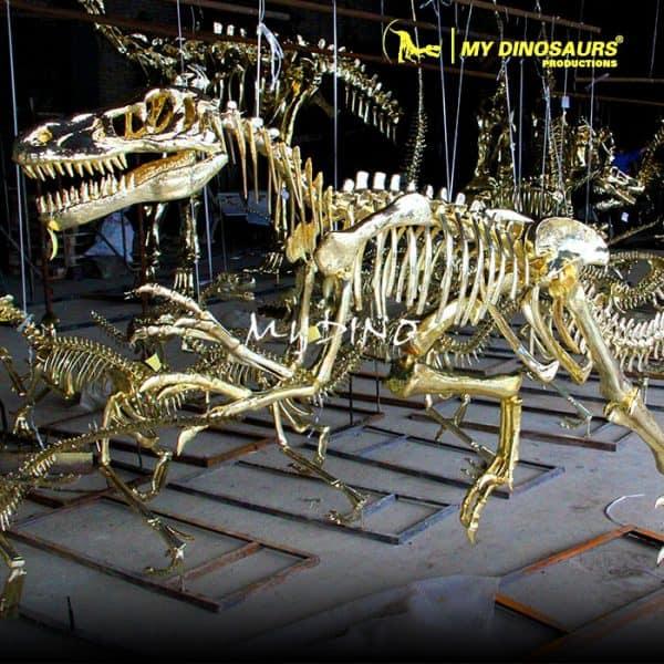 Gold dinosaur skeleton 2