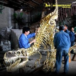 Gold dinosaur skeleton 4
