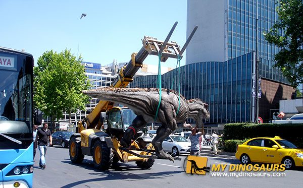 shopping mall dinosaur exhibition 7