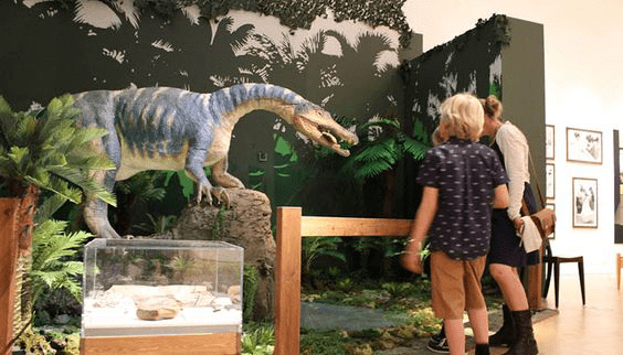 shopping mall dinosaur exhibition
