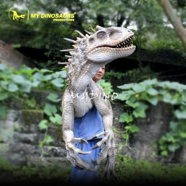 Customized dinosaur puppet