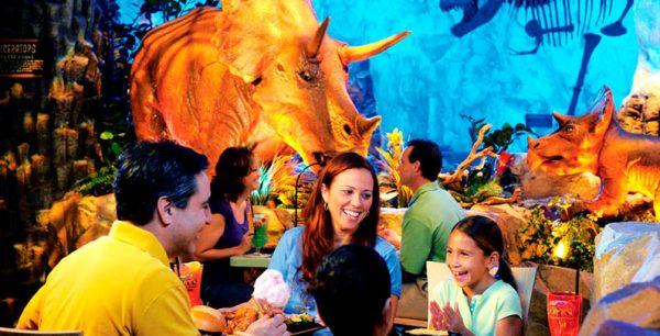 T Rex restaurante Disney tematico divertido experiência única