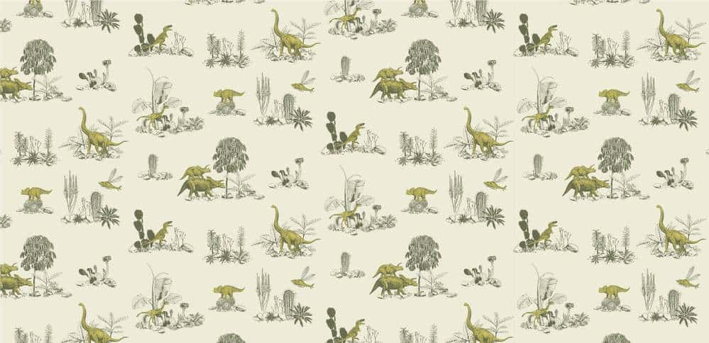 Dino Yellow Green Wallpaper Full Screen 1000x