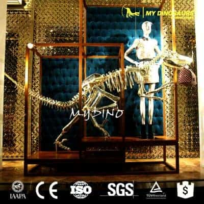 Showcase decoration golden dinosaur skeleton 7 400x400