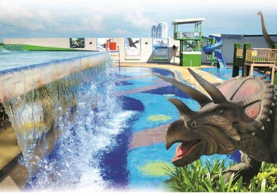dinosaur alive water