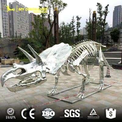 silver dinosaur skeleton 400x400