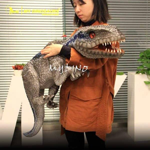 Baby blue raptor puppet 1