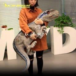 Baby blue raptor puppet 2