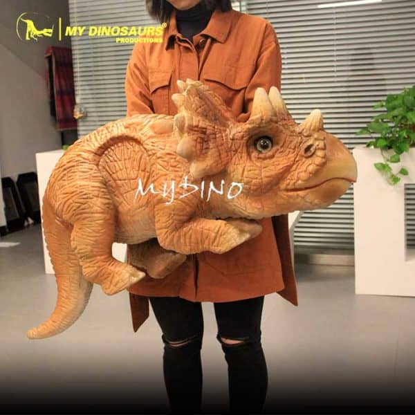 Baby triceratops hand puppet 1