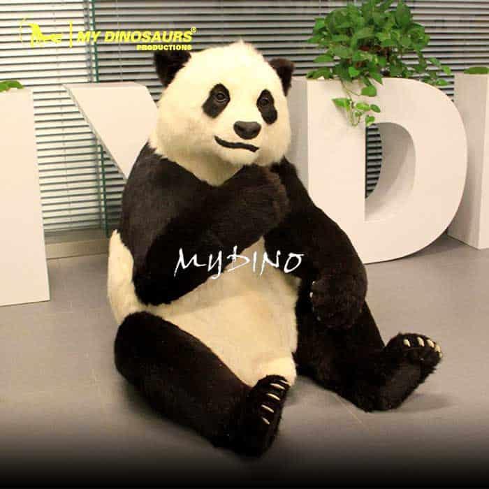 Zoo Park Attraction Life Size Animatronic Panda
