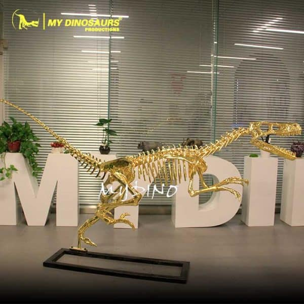 gold raptor skeleton