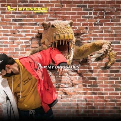 Animatronic dinosaur head 1