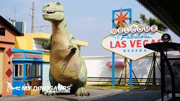 dinosaur statue props 3