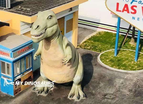 dinosaur statue props