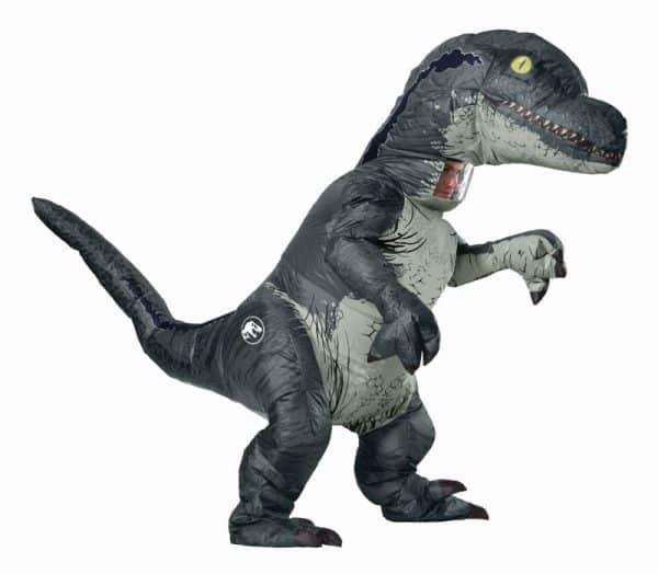 adult inflatable velociraptor dinosaur costume 7