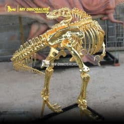 Gold dinosaur skeleton 2