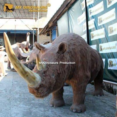 Animatronic Woolly rhinoceros 1