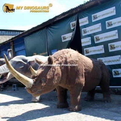 Animatronic Woolly rhinoceros