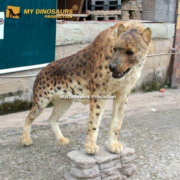 Dinocrocuta statue