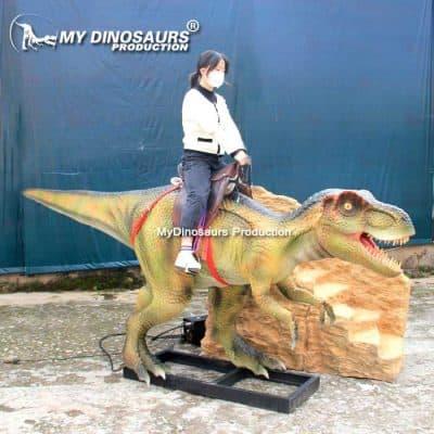 Amusement dinosaur ride