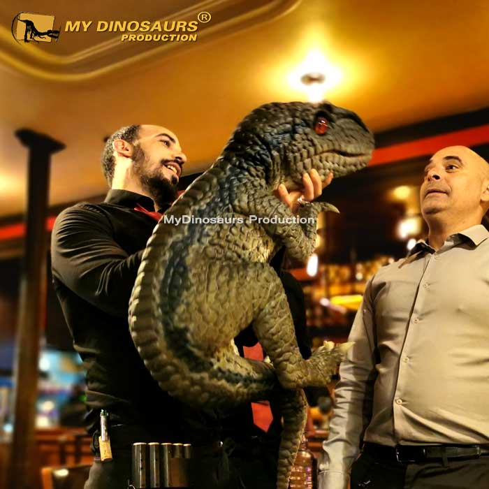 raptor hand puppet 1