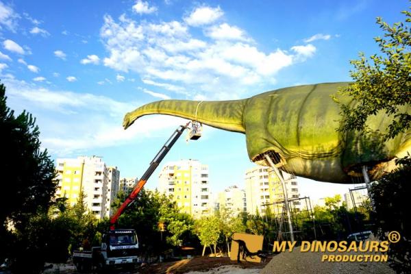 dinosaur installation