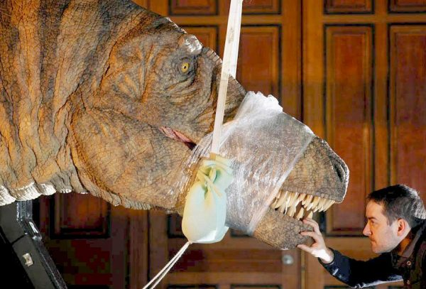 museum exhibits tarbosaurus animatronics