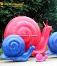 Large size snail statue