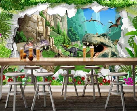 dinosaur theme wallpaper