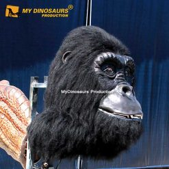 Animatronic gorilla head