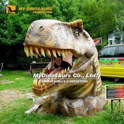 Dinosaur head statue
