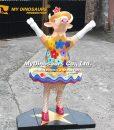 Dancing Diva Cow Statue 1